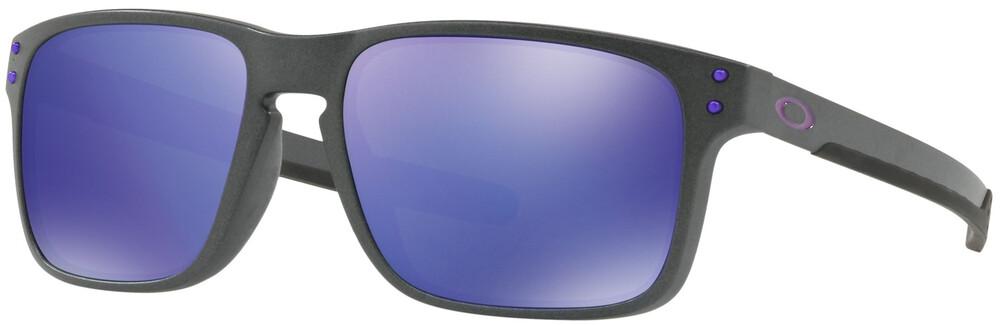 Oakley Holbrook Mix Sunglasses Steel/Violet Iridium 2018 Sonnenbrillen LPE1Y31ZWo